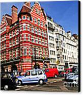 Busy Street Corner In London Canvas Print by Elena Elisseeva