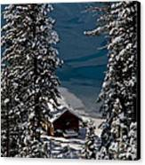 Cabin In The Woods Canvas Print by Mitch Shindelbower