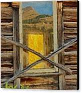 Cabin Windows Canvas Print by Jeff Kolker