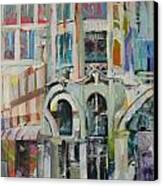 Cafe In Paris Canvas Print by Carol Mangano