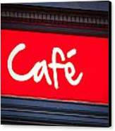 Cafe Sign Canvas Print by Tom Gowanlock