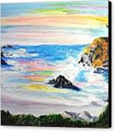 California Coast Canvas Print by Susan  Clark