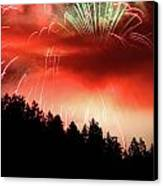 Canada Competing In The Celebration Of Light Fireworks 2011 Canvas Print by Pierre Leclerc Photography