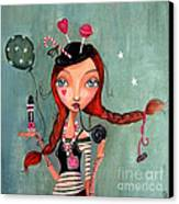Candy Girl  Canvas Print by Caroline Bonne-Muller