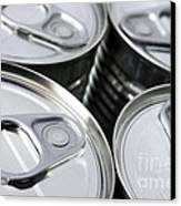 Canned Food Canvas Print by Carlos Caetano