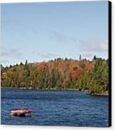 Canoe Ride Canvas Print by Peter Clemence