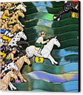 Carnival Horse Race Game Canvas Print by Garry Gay