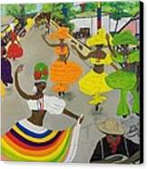 Carnival In Port-au-prince Haiti Canvas Print by Nicole Jean-Louis
