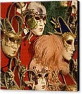 Carnival Masks For Sale Canvas Print by Jim Richardson