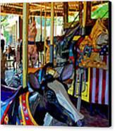 Carousel Fun Canvas Print by Bob Whitt