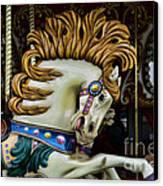 Carousel Horse - 4 Canvas Print by Paul Ward