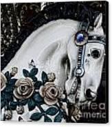Carousel Horse - 8 Canvas Print by Paul Ward