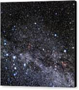 Cassiopeia And Cepheus Constellations Canvas Print by Eckhard Slawik