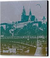 Castillo De Praga Canvas Print by Naxart Studio