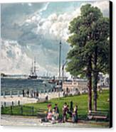Castle Garden, New York, Showing Canvas Print by Everett