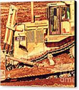 Cat Bulldozer . 7d10945 Canvas Print by Wingsdomain Art and Photography
