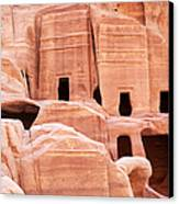 Cave Dwellings Petra. Canvas Print by Jane Rix