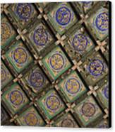Ceiling Tiles In The Forbidden City Canvas Print by Sam Bloomberg-rissman