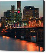 Centennial Birthday Of The Hawthorne Bridge.  Canvas Print by Gino Rigucci