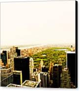 Central Park And The New York City Skyline From Above Canvas Print by Vivienne Gucwa