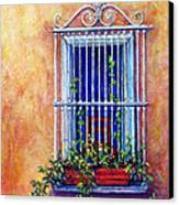 Chair In The Window Canvas Print by Tanja Ware