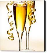 Champagne Glasses Canvas Print by Elena Elisseeva