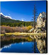 Chapel On The Rock Canvas Print by Mark Bowmer
