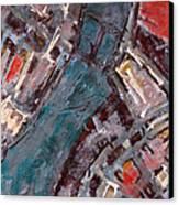 Charles River Plan Canvas Print by Romina Diaz-Brarda