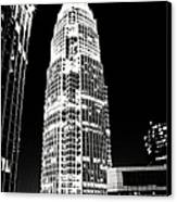 Charlotte North Carolina Bank Of America Building Canvas Print by Kim Fearheiley
