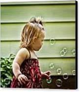 Chasing Bubbles Canvas Print by Matt Dobson