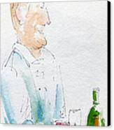 Chef In Action Canvas Print by Pat Katz