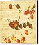 Cherries Canvas Print by Bonnie Bruno