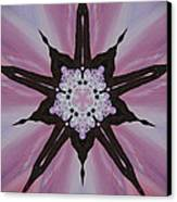 Cherry Blossom Kaleidoscope 2 Canvas Print by Heather  Hubb