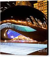 Chicago Cloud Gate Luminous Field Canvas Print by Paul Velgos