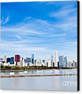 Chicago Lakefront Skyline Wide Angle Canvas Print by Paul Velgos