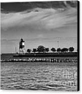 Chicago Lighthouse Canvas Print by Leslie Leda