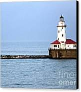 Chicago Lighthouse Canvas Print by Sophie Vigneault