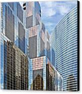 Chicago - One South Wacker And Hyatt Center Canvas Print by Christine Till