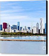 Chicago Panarama Skyline Canvas Print by Paul Velgos
