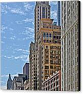 Chicago Willoughby Tower And 6 N Michigan Avenue Canvas Print by Christine Till