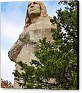 Chief Blackhawk Statue Canvas Print by Bruce Bley