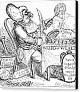 Cholera Doctor, Satirical Artwork Canvas Print by