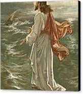 Christ Walking On The Waters Canvas Print by John Lawson