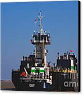 Christiana Oil Tanker Sitting In Galveston Tx Canvas Print by Susanne Van Hulst