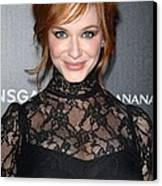 Christina Hendricks Wearing A Dolce & Canvas Print by Everett