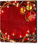 Christmas Frame Canvas Print by Carlos Caetano