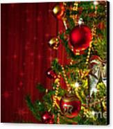 Christmas Tree Detail Canvas Print by Carlos Caetano