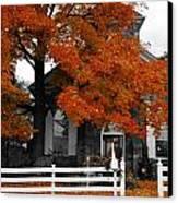 Church In Autumn Canvas Print by Andrea Kollo