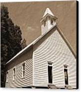 Church In The Mountains Canvas Print by Barry Jones