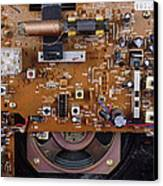 Circuit Board In A Portable Radio Canvas Print by Andrew Lambert Photography